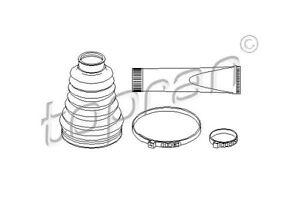 TOPRAN Faltenbalgsatz, Antriebswelle Getriebeseitig, Vorderachse links