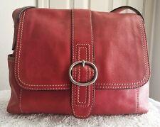 FOSSIL Vintage Leather Small Red One Shoulder Strap Saddle Bag/Purse