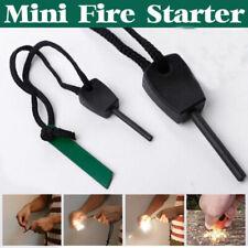 Camping Survival Magnesium Flint And Steel Striker Fire Starter Lighter Stick Sd