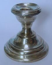 SILVER CANDLESTICK BIRM 1902 INSCRIBED S.S.MOTAGUA WWI ARMED MERCHANT CRUISER