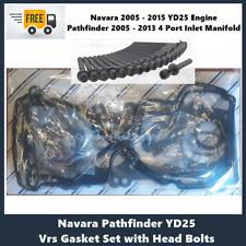 VRS Head Gasket Kit & Head Bolt Set Nissan Navara Pathfinder YD25 2.5 Ltr Diesel