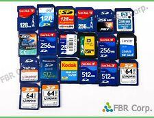 Lot 20 Secure Digital Standard 64mb 128mb 256mb 512mb SD Memory Card For Camera