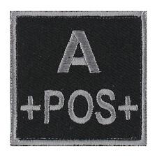 ÉCUSSON PATCH GROUPE SANGUIN A+ / A POS / A POSITIF avec DOS AUTO-AGRIPPANT