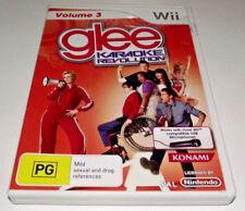 Glee Karaoke Revolution Vol 3 Nintendo Wii PAL *Complete* Wii U Compatible