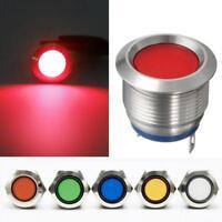 19mm Car Boat LED Dashboard Panel Warning Indicator Dash Light Pilot Lamp RT *