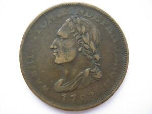 United States 1783 Washington UNITY STATES Cent Rare