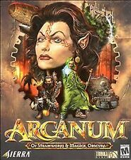 Arcanum: Of Steamworks & Magick Obscura (PC, 2001) DISC IS MINT JEWEL CASE