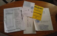 000 Frigidaire Top Mount Fridge Owners Manual Registration Cards Energy Guide