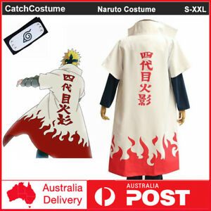 Anime Naruto Cosplay Costume 4th Fourth Hokage Namikaze Minato Cape Cloak Robe