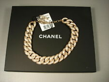 Chanel Runway Dubai Gold Pearl Shimmery Chains Links Necklace Choker NEW in Box