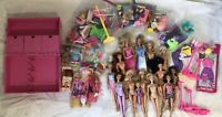Huge Lot Of Mattel Barbie Dolls Furniture Shoes Accessories Clothes And Case