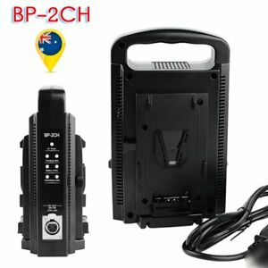 BP-2CH V-Mount V-Lock Dual Slot Channel Battery Charger Power Supply Adapter