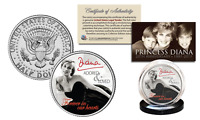 PRINCESS DIANA 20th Anniversary KENNEDY Half Dollar Coin - Black Dress Edition