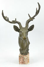 Elk Deer Buck Stag Wildlife Art Big Game Hunter Gift Bronze Marble Statue Decor