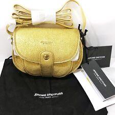 Jerome Dreyfuss Momo Crossbody Bag Metallic Gold Cracked Leather Shoulder Mini