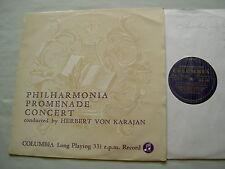 33CX 1335 Philharmonia Promenade concierto: Strauss/Chabrier etc. Karajan Vinilo Lp