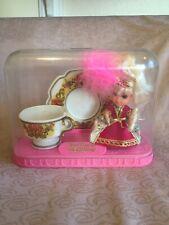 "Vintage Tea Party Kiddles In Case ""Lady Crimson"" Mattel Toys"