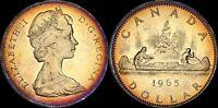1965 CANADA ELIZABETH II SILVER DOLLAR HIGH QUALITY COLOR TONED COIN