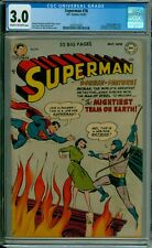Superman 76 CGC 3.0 1952 Batman Learn Identities CBCS @Guardian_Comics