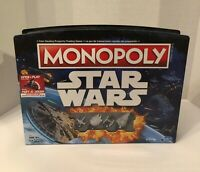 Star Wars Monopoly Disney Hasbro Board Game Open Play Game Case New Open Box