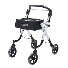 "ELENKER Steerable Foldable Rollator 8"" Casters Rolling Walker Senior Walker USA"