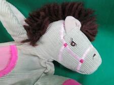 ADORABLE PINK TAN YARN HAIR SPROCKETS CHILDS CORDUROY PURSE BAG PLUSH PONY HORSE
