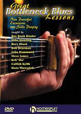 GREAT BOTTLENECK SLIDE BLUES GUITAR LESSONS *NEW* DVD