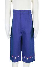 JACADI Girl/'s Trommel Chambray High Waist Cropped Pants Size 4 Years NWT $56