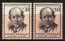 Czechoslovakia 1957 Sc829-30Mi1048-9 0.60 MiEu 2v mnh Death of A.Zapotocky