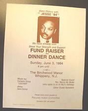 "Rare 1984 Jesse Jackson ""Jesse '84� Presidential Fund Raiser Handbill/Flyer"