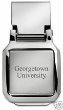 new! Georgetown University ENGRAVED SILVER SPRING MONEY CLIP Hoyas