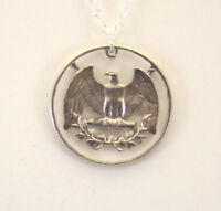 Washington Quarter Reverse, Cut-Out Coin Jewelry, Necklace/Pendant