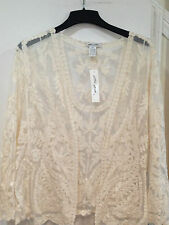 Women's Wedding cocktail evening party Embroidered Mesh jacket Cardigan plus3X2X