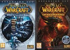 WOW PC World of Warcraft x2 Expansion Pack -Wrath of the Lich King and Cataclysm