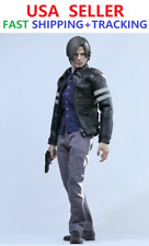 1/6 Resident Evil Leon S Kennedy Leather Jacket Clothing Set for 12'' Male Body