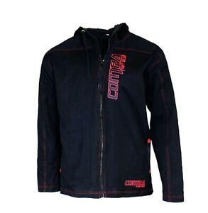 BJJ GI Jacket Black with Red stitching