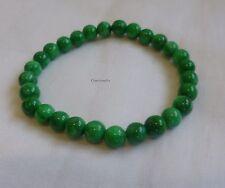 Genuine natural Han Green Jade (cold jade) 6mm round beads bracelet