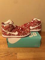 "Nike SB Dunk High PRM ""Raw Meat"" Size 11 Skate Shoe Rare 2016"