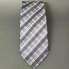 Covington Mens Tie Purple Pastel Diamond Hand Made Classic Neckwear