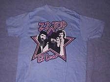 Original Vintage 1982 ZZ TOP EL LOCO T Shirt Blue