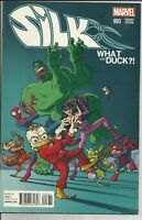 SILK #3  1st Printing What the Duck Variant Cover June 2015 Marvel Never Read
