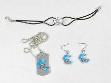 Felix The Cat Fashion Jewelry Set ~ Dog Tag, Earrings, Bracelet ~ #FLX-SRF-03
