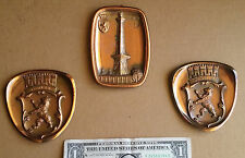 Ges Gesch Wall Hanging Copper / Brass Crests Set of 3