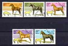 Chevaux Afghanistan (3) série complète de 5 timbres oblitérés