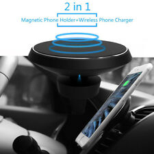 Magnetic Wireless Qi Cell Phone Charger Air Vent Car Charging Mount Holder