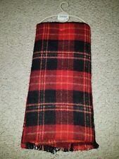 Next Mens Multi black & red Striped Winter Scarf New.RRP £10