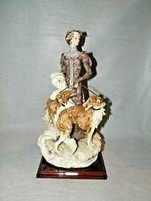 Giuseppe Armani 'Lady With Borzois' 1122C Beautiful Figurine W/Box