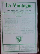 La Montagne n°147 (juil-août 1921) Massif de l'Arbizon - Débâcle de l'Aveyron