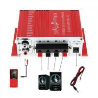 Mini Hi-Fi Amplificatore stereo FM Lettore Auto Home Audio 2-CH DC 12V Nuovo IT