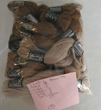 Vintage DMC Taperstry 100% Wool Tan Brown  28pc
